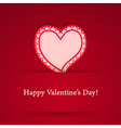 Valentine day heart sticker vector image vector image