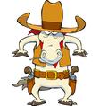 cowboy horse vector image vector image