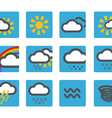 Forecast weather icons set vector image vector image