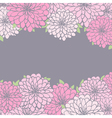 Floral background with chrysanthemum vector image vector image