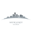 Milwaukee Wisconsin city skyline silhouette vector image vector image