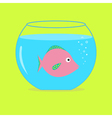 Pink fish in the aquarium Card vector image