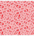 Seamless pattern of symbolic hearts vector image vector image
