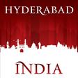 Hyderabad India city skyline silhouette vector image