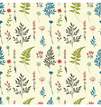 Retro seamless pattern with flowers vector image