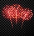 Festive red firework background vector image