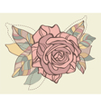 Retro card with stylized rose vector image vector image