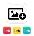Add photo icon vector image