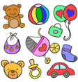 collection of baby set art vector image