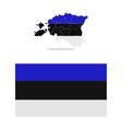 map estonia vector image