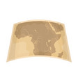 map of mainland africaafrican safari single icon vector image