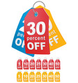 percent off shopping tag vector image