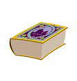 Quran Great old book Book with Arabic pattern vector image
