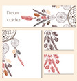 set of identity templates with drawn dream catcher vector image