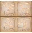 set Tea Time pattern of Cup hands teabag vector image