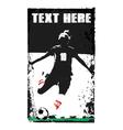 soccer girl poster vector image