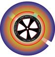 Tyre design vector image