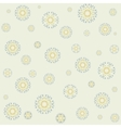 Seamless lacy pattern on yellow background vector image