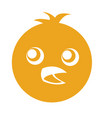 cute chicken character icon vector image