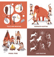 primal tribe people concept icons set vector image