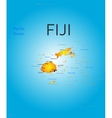 Fiji country vector image vector image