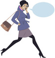 Talking on a cell phone vector image vector image