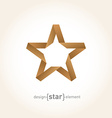 Origami Star from old paper on gradient background vector image