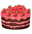 Decorated Chocolate Cake vector image
