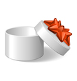 ribbon and bow present vector image vector image