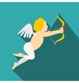 Valentine day cupid flat icon vector image