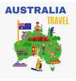 Australia Travel Map Poster vector image