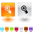add square button vector image