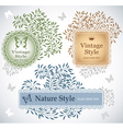 Set of eco labels vector image vector image