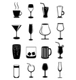 Alcohol drinks icons set vector image