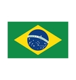 brazilian flag drawing design vector image