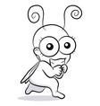 Funny bug vector image
