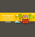 kids playground banner horizontal concept vector image