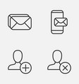 Network icons set collection of insert phone vector image
