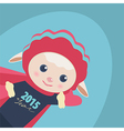 New Year of a cute Super Hero sheep vector image