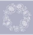 peony flower wreath vector image