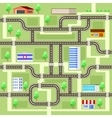 Road map with houses vector image