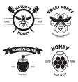 Set of vintage honey labels badges logotypes and vector image
