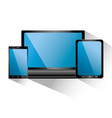 smartphone tablet and laptop icon gadgets vector image