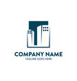 unique building logo template vector image