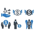Angel Investor Flat Icons vector image