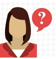 smartphone woman question vector image