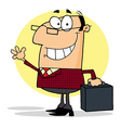 Businessman Waving A Greeting vector image vector image