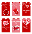 Valentines day card set vector image vector image