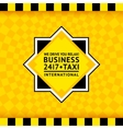 Taxi symbol with checkered background - 25 vector image vector image