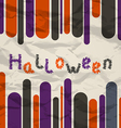 Old colorful poster with text for Halloween vector image